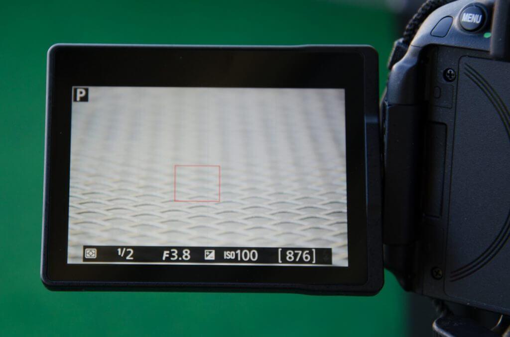 Live-View Ansicht mit Belichtungskorrektur + 2.0 EV