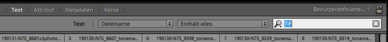 Dateiname und TIF Format