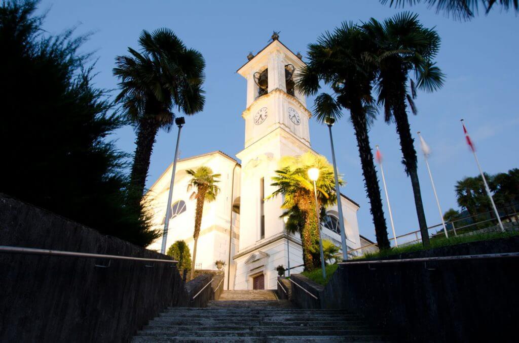 Einzelaufnahme Kirche von Magadino