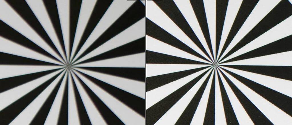 Festbrennweite 50mm links bei Offenblende f/1.8, rechts bei f/4