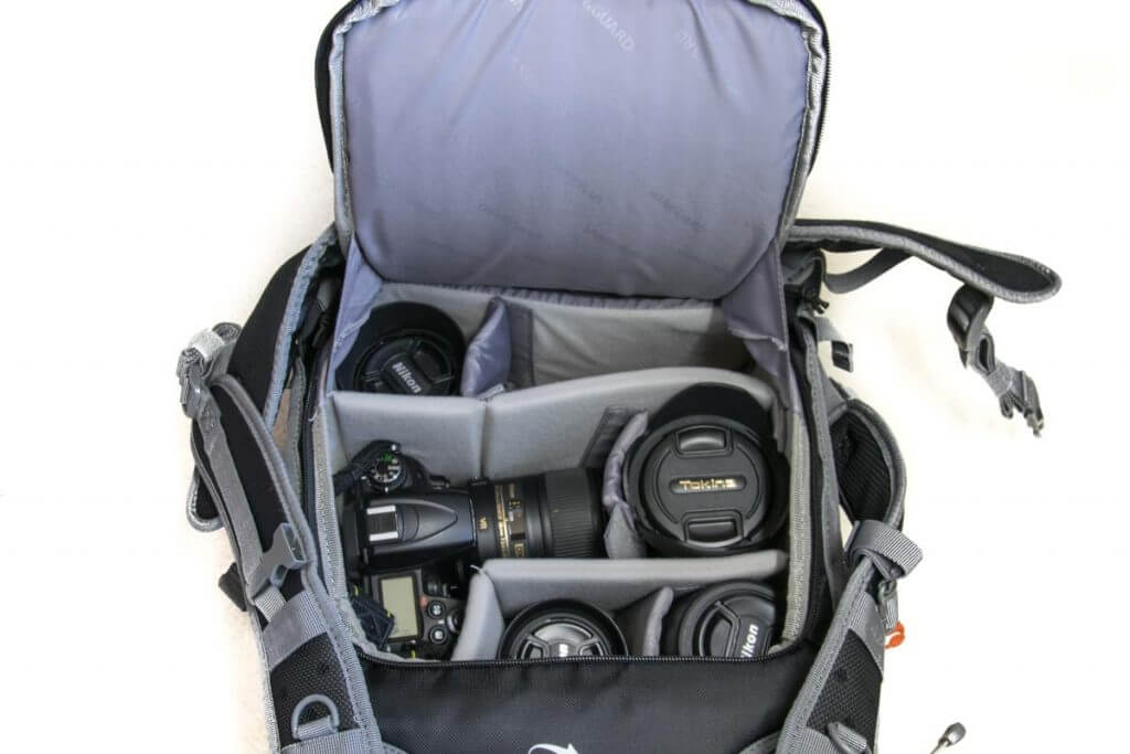 Fotorucksack mit Platz für viel Zubehör