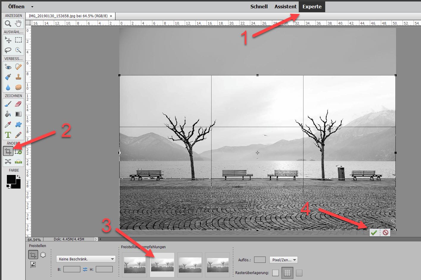 Fotos in Photoshop zuschneiden