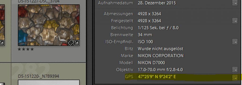 GPS-Daten in Photoshop Lightroom - Fotos mit GPS Daten versehen