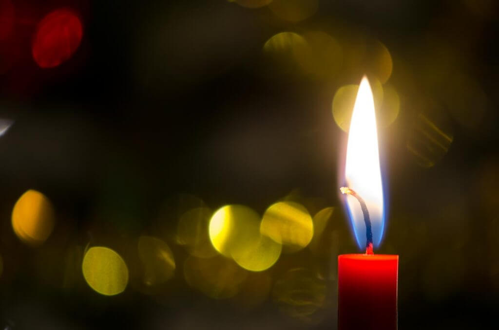 Geschenkkarten brennende Kerze