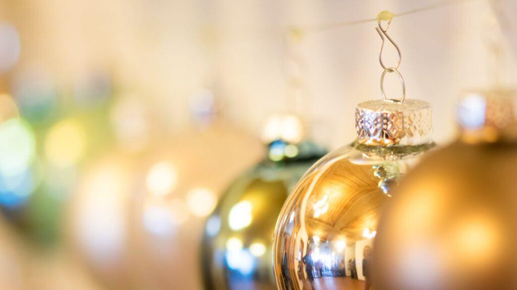 Geschenkkarten Weihnachtskugeln
