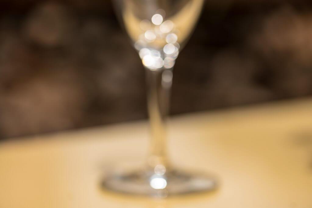Glas in völliger Unschärfe - Bokeh Effekt
