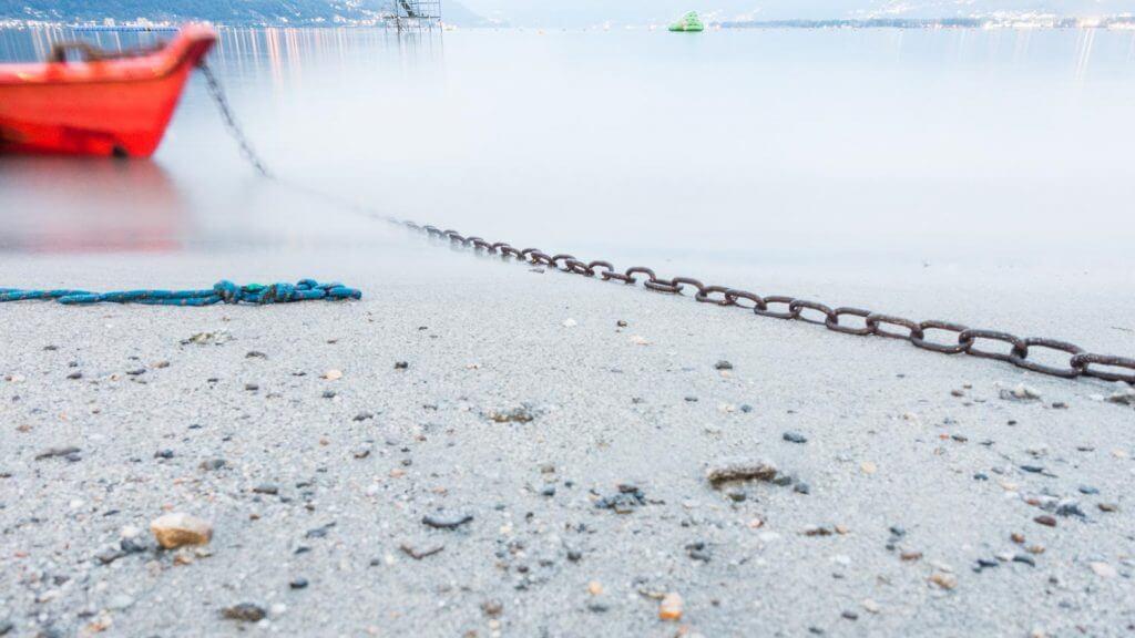 available Licht - Langzeitbelichtung mit Kompaktkamera, Lago Maggiore in Tenero