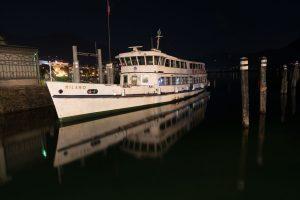 Schiff im Hafen von Locarno - Originalbild