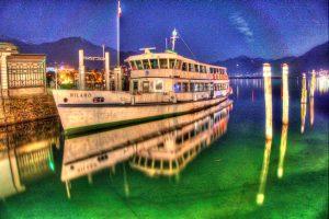 Schiff im Hafen von Locarno - Photomatix Pro