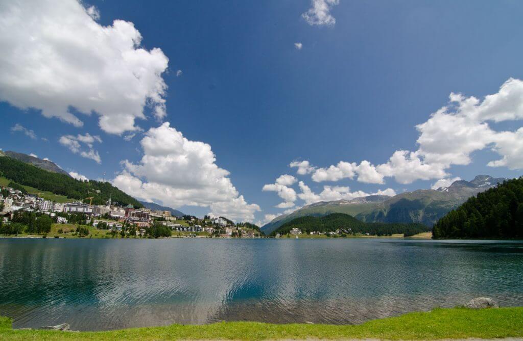 See in St. Moritz mit Polarisationsfilter fotografiert