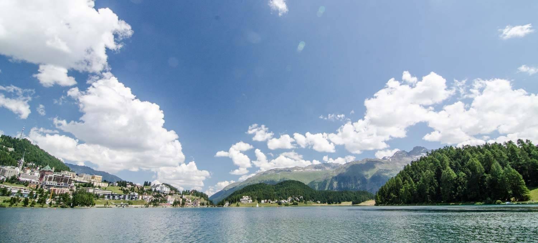 St. Moritz mit See - Landschaftsfotografie mit Polfilter