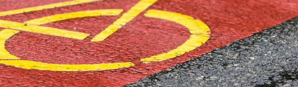 Strassenmarkierung Velo