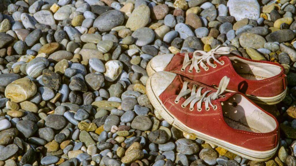 Am Strand vergessen - eingescanntes Dia - negative und dias digitalisieren lassen