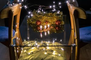 Einrichten für Aufnahmen mit Kerzen - Weihnachtsmotive