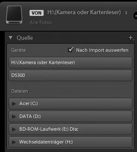 Digitaler Workflow - Bilder importieren