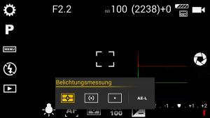 Anleitung Camera FV 5 App Belichtungsmessung