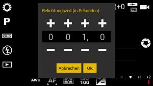 Anleitung Camera FV 5 App - Langzeitbelichtung