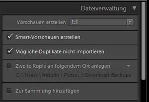 Dateiverwaltung Lightroom - digitaler Workflow