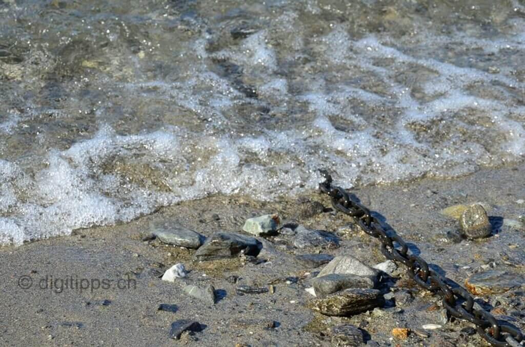 Eingefrorene Wellenbewegung bei kurzer Verschlusszeit