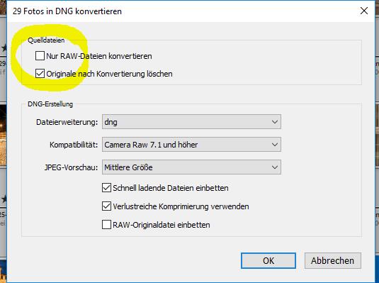 nur TIF Dateien konvertieren