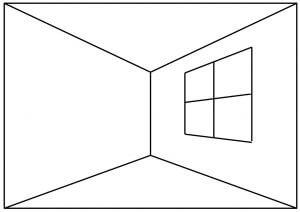 Zimmerperspektive - Ecke über Ecke