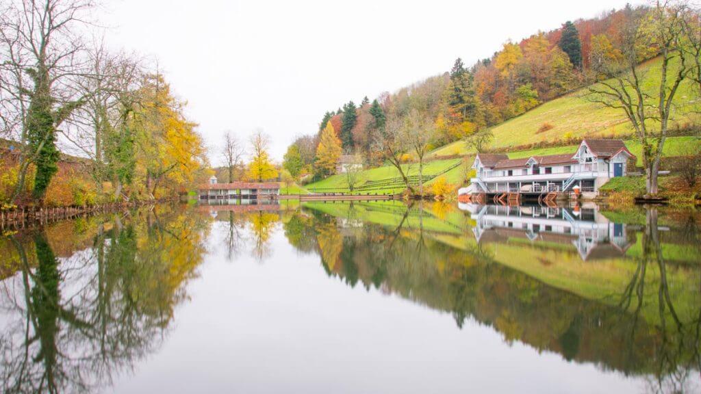 Badehaus drei Weiern St. Gallen - Spiegelung