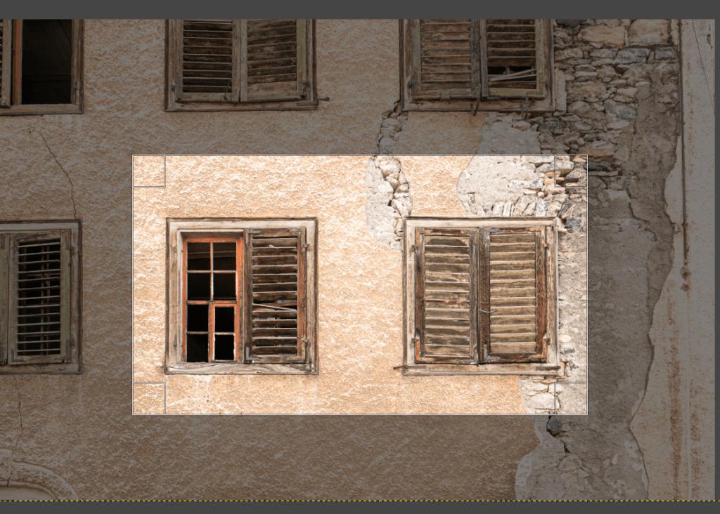 Bilder zuschneiden mit GIMP Vorschau