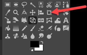 Bilder zuschneiden mit GIMP Werkzeugkasten