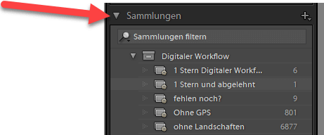 SMART Sammlung in Lightroom erstellen