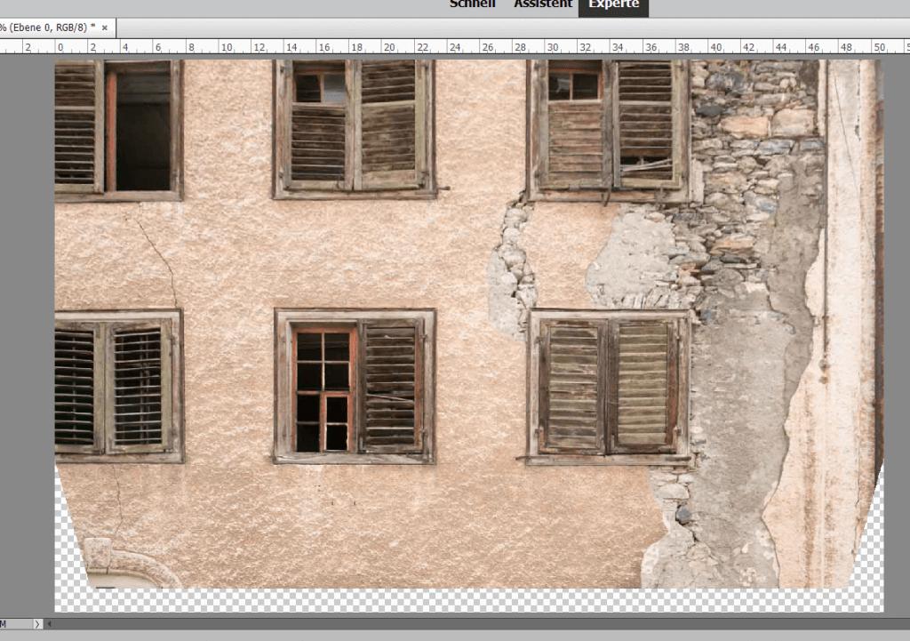 Stürzende Linien mit Photoshop Elements korrigieren 2