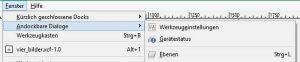 andockbare Dialoge in GIMP öffnen