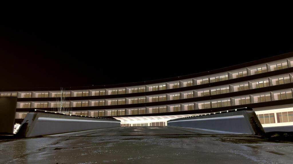 OpenCamera einer Klinik im Winter