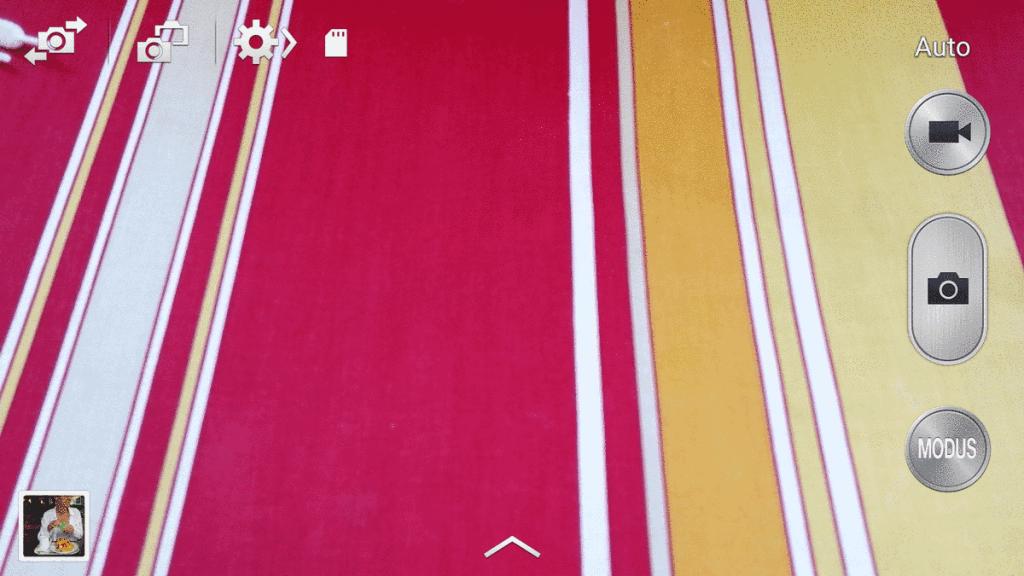 Bildschirm Kamera-App Samsung - Erste Schritte mit der Kamera
