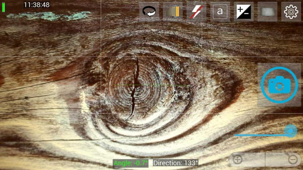 Drittels-Linien zum Gestalten einblenden mit dem OpenCameraApp