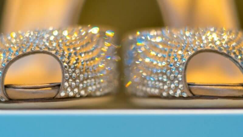 exklusive Schuhe in Schaufensterauslage