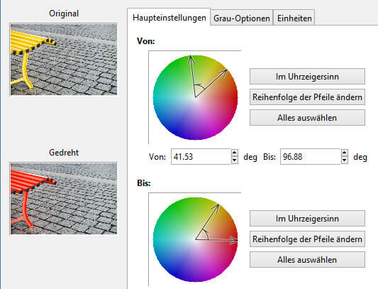 Farbkreise eingrenzen - Farben austauschen mit GIMP