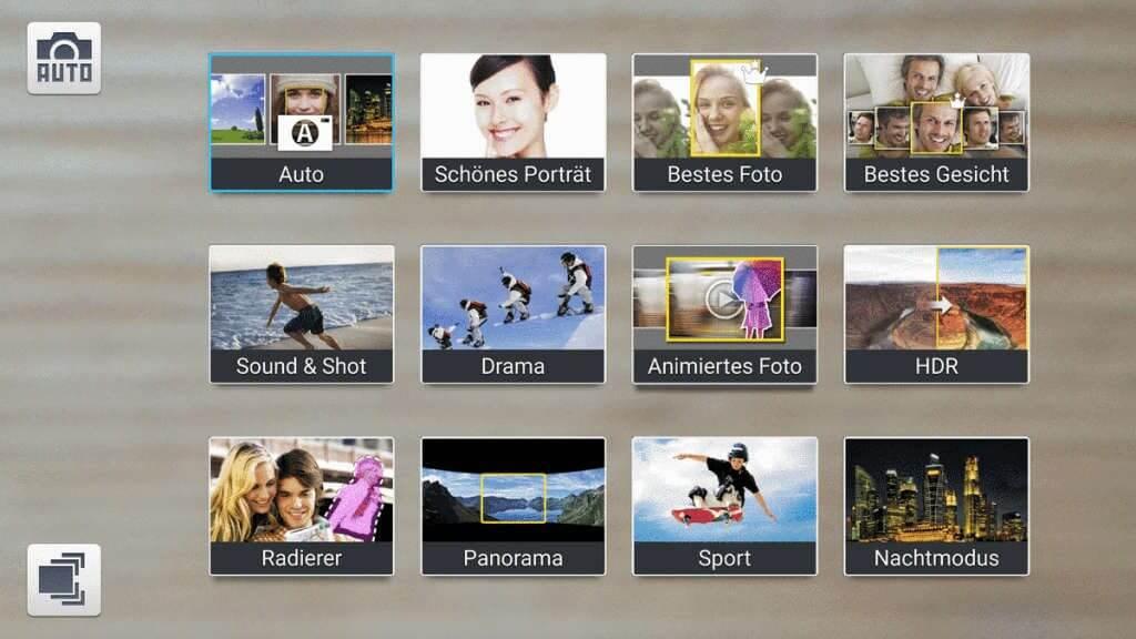 Motivprogramme Samsung Galaxy S4 - Bewegungen fotografieren