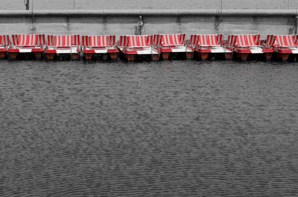 Pedalos im Hafen von Rorschach