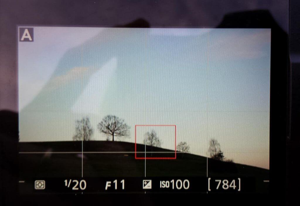 Bildausschnitt mit Smartphone festhalten