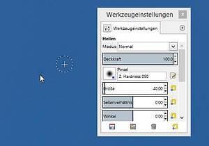 Sensorflecken entfernen mit GIMP