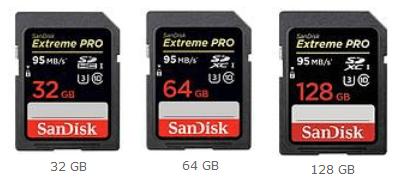 Speicherkarten San Disk 32 bis 128 GB