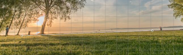 Winkel im Bild aufziehen - schiefer Horizont korrigieren