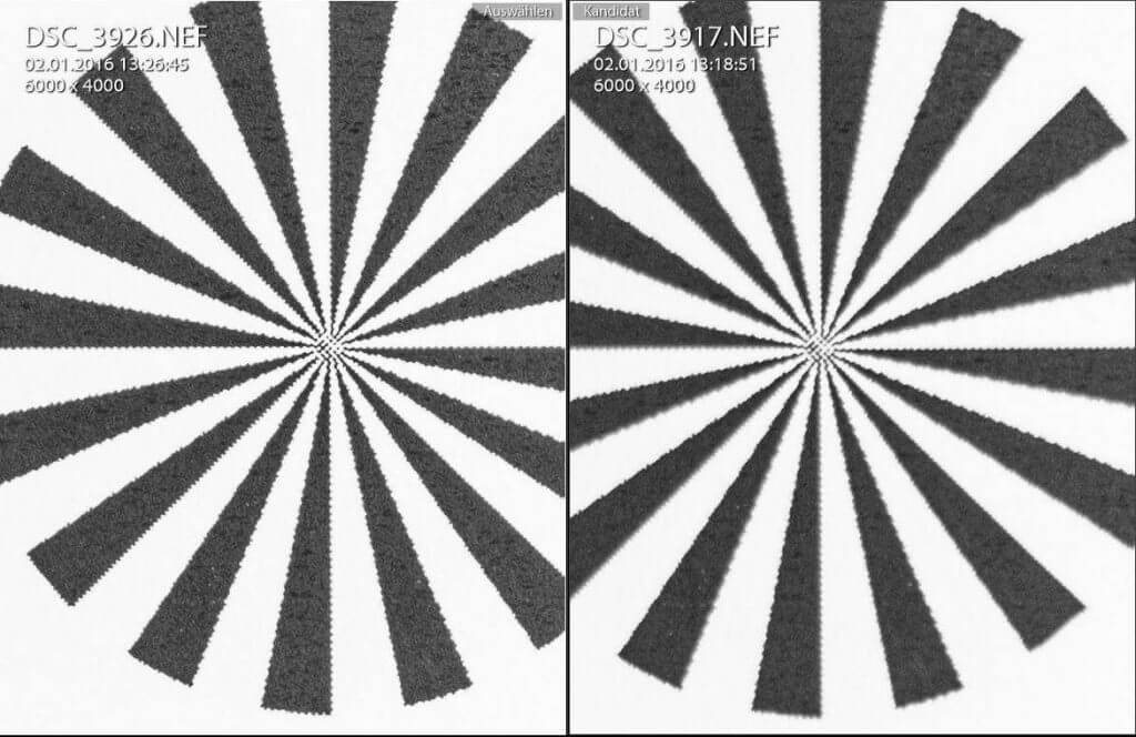 Sigma f/2.8 105mm gegen Nikkor f/3.5 mit Offenblende