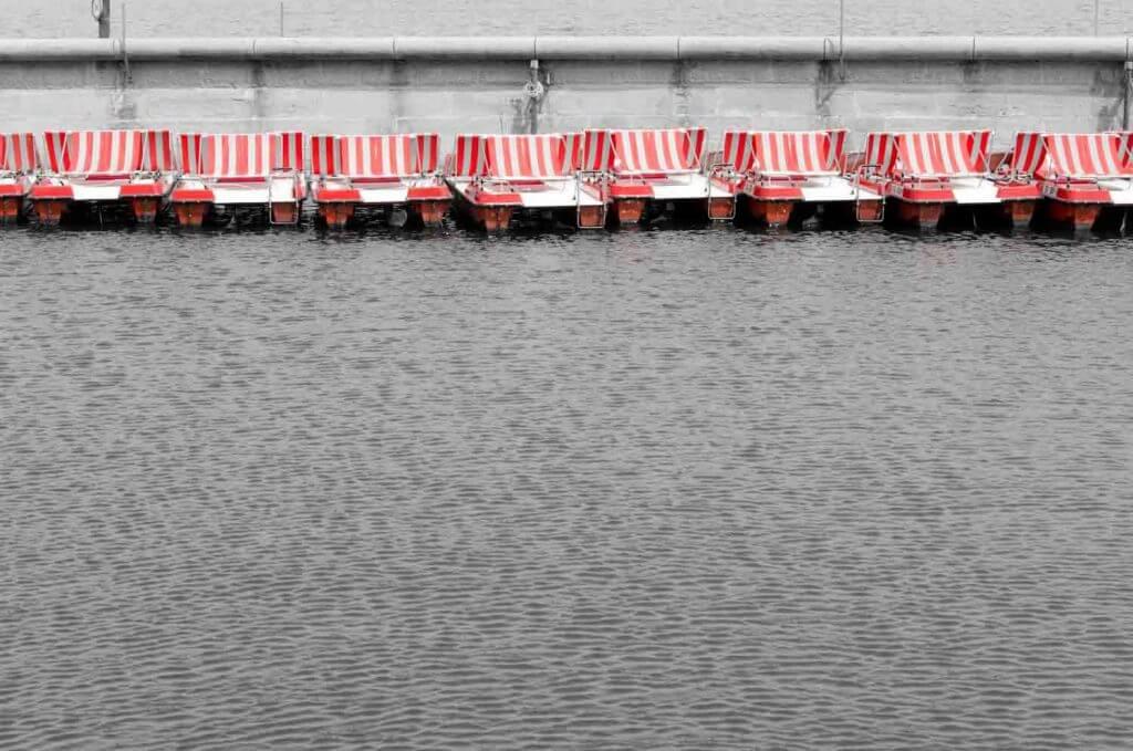 Treetboot am Hafen von Rorschach