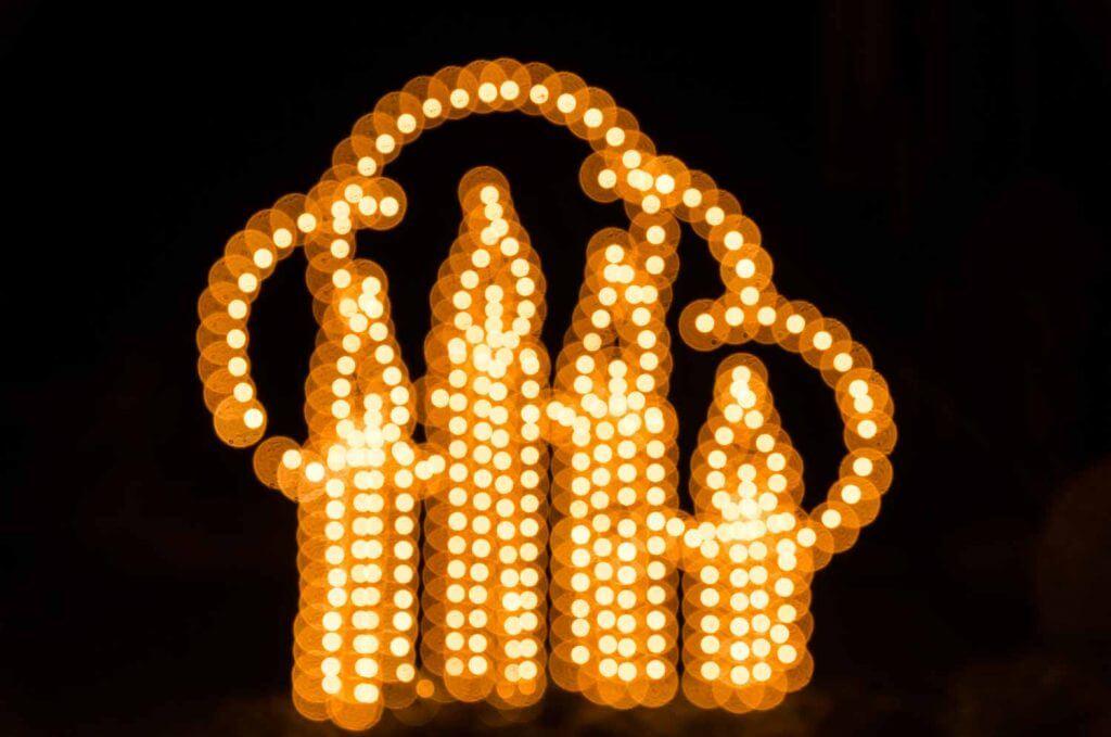 Weihnachtsbeleuchtung Mehrfachbelichtung