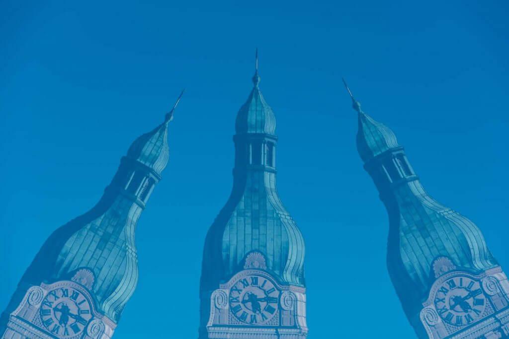 Mehrfachbelichtung Kirchturm Neudorf St.Gallen