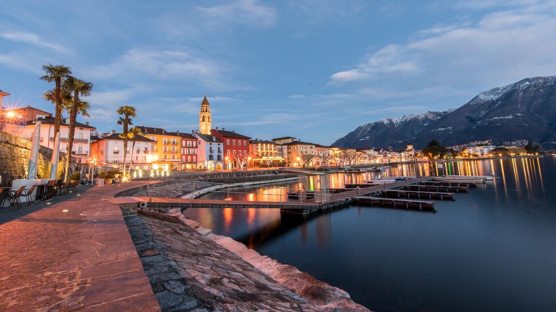 Ascona in der blauen Stunde