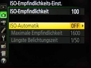 ISO Automatik Einstellungen