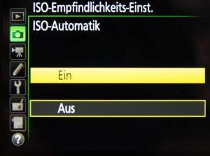 ISO Automatik einstellen
