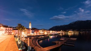 Pseudo HDR erstellen - Ascona by Night Originalbild